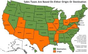 louisiana map in usa sales tax sourcing based on origin or destination