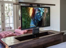 Drop Down Tv From Ceiling by Motorized Tv Lift Soundvision San Francisco Marin Napa Sonoma