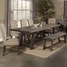 dining table with chairs and bench foter