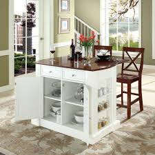 drop leaf kitchen islands crosley furniture kf300073wh coventry drop leaf breakfast bar top