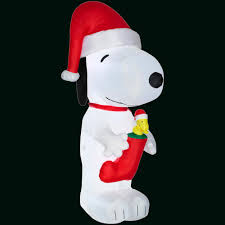 Snoopy Outdoor Christmas Decorations Licensed Characters Christmas Inflatables Outdoor Christmas