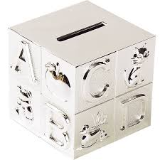 silver plated baby gifts baby silver plated abc block bank