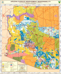 Arizona Map by Arizona Surface Management Map