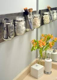 Glass Bathroom Storage Jars Creative Clear Glass Jars Unique Bathroom Storage Ideas