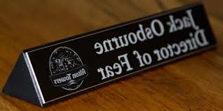 Personalized Desk Name Plates Engraved Desk Top Sign Name Plate The Maker Pertaining To