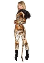 catsuit halloween costumes hooded tiger catsuit