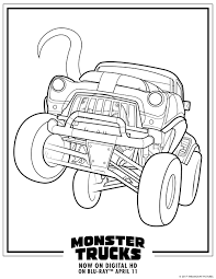 monster trucks printable coloring pages u2014 all for the boys