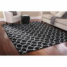 Area Rug Mat 8 X 10 Indoor Black White Area Rug Mat Carpet Living Room
