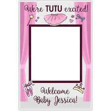 baby shower frames tutu ballerina baby shower selfie frame social media photo booth