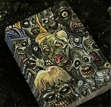 zombie themed halloween party retro coin bank thing magic black box money trap collectible toy