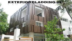 house front elevation facade cladding hpl u0026 acp contractors in delhi
