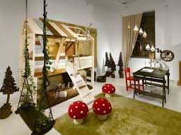 fabulous white wooden loft ideas also swing chairs also green