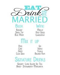 wedding drink menu template wedding drink list wedding ideas