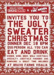 ugly sweater christmas dinner bravo farms