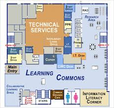 map of the learning commons