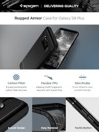 amazon com spigen rugged armor galaxy s8 plus case with resilient