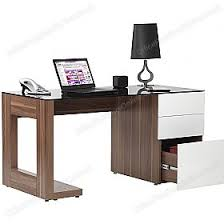 Walnut Computer Desks Theo Executive Walnut Computer Desk Static Computer Desks