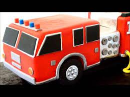 firetruck cakes truck birthday cake