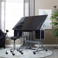 Glass Top Drafting Drawing Table Glass Drafting Tables Foter