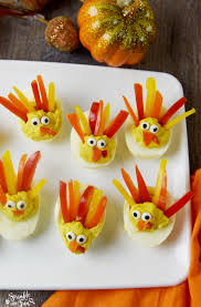 these deviled egg turkeys are a way to dress up your favorite