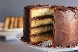 cinnamon lemon cake with dark chocolate ganache