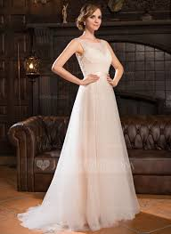 a line princess wedding dress a line princess scoop neck sweep tulle lace wedding dress