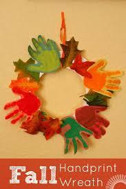 fall handprint wreath craft ideas fall and wreaths