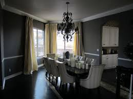 Black Chandelier Dining Room Dining Room Spacious Grey Dining Room Color Black