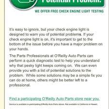 o reilly auto parts check engine light o reilly auto parts 24 reviews auto parts supplies 919 n