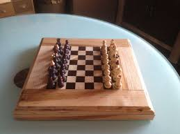 chess board made of solid wood oak and cedro