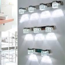 modern led crystal bathroom mirror lighting led wall sconce lamps
