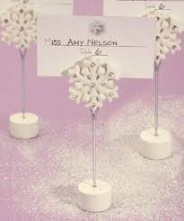 80 snowflake winter themed place card holders wedding favor