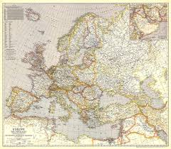 Europe 1939 Map by And The Near East Map