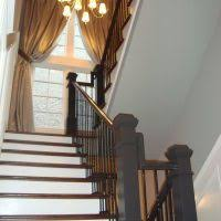 Modern Stair Banister Terrific Staircase Decoration With Stunning Red Stair Step And