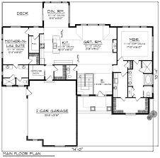 ranch style house plan 2 beds 2 50 baths 2598 sq ft plan 70 1175