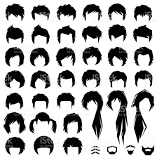 hair vector hairstyle stock vector art 486817574 istock
