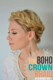 hair braiding styles step by step the boho crown braid tutorial little miss momma