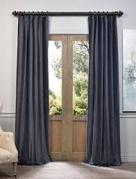Blue Grey Curtains Blue Grey Vintage Cotton Velvet Curtain Windows Pinterest