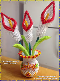 Lily Vases Wholesale Uk 3d Origami Lily Vase Lily Origami Flower Paper Decoration