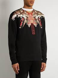 marcelo burlon victor cotton jersey sweatshirt mens black clothing