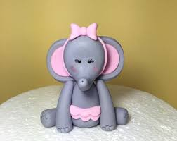 items similar to elephant ballerina cake topper fondant baby