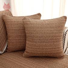 Cotton Sofa Slipcovers by Europe Style Brown Solid Cotton Linen Sofa Cover Lace Decor