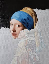 girl with the pearl earring painting painting kit girl with a pearl earring create your own