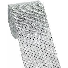 bling ribbon 4 5 diamond bling mesh ribbon silver 10 yards drb324 14