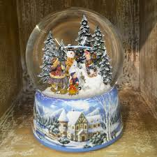 large build a snowman musical snow globe barretts of