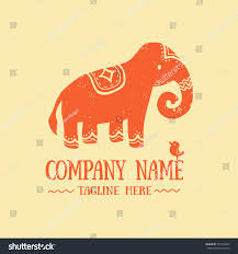 black indian elephant doodle stock vector 501378463