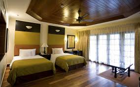 bedroom interesting double single beds with green quilts and
