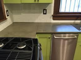 comptoir ciment cuisine comment fabriquer un comptoir de béton soumission renovation