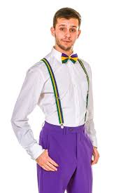 mardi gras bow tie mardi gras bow tie and suspenders the nawlin s combo
