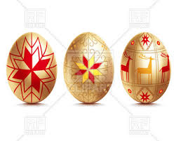 golden easter egg golden easter eggs royalty free vector clip image 26345